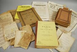 Group of Mostly 19th Century Printed Paper Broadsides, Trade Fairs, and Periodicals