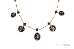 Antique 18kt Gold and Lapis Necklace, Fanniere Freres