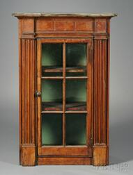Federal Pine Glazed Architectural Wall Cupboard