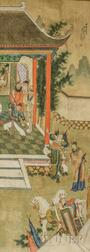 Painting Depicting a Temple Scene