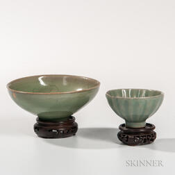 Two Small Celadon Bowls