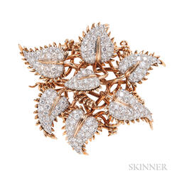 18kt Gold and Diamond Clip Brooch, Jean Schlumberger