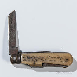 Carved Navy Pocketknife