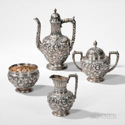 Four-piece Gorham Sterling Silver Coffee Service