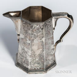 Engraved Coin Silver Pitcher