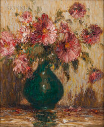 Gustave Adolph Wiegand (German/American, 1870-1957)      The Last Chrysanthemums