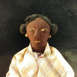 Cloth Doll of a Black Woman in a Pink Gown