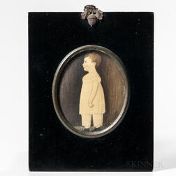 Anglo/American School, Early 19th Century      Miniature Portrait of a Boy