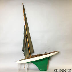 Jacrim-Hollow Keystone Painted Wood Pond Boat