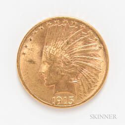 1915 $10 Indian Head Gold Coin.