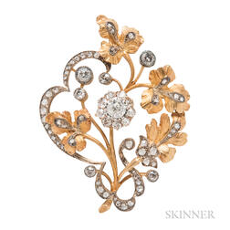 Antique Gold and Diamond Brooch