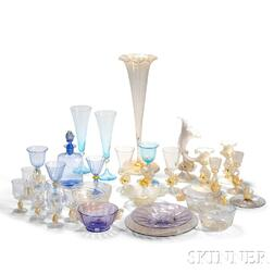 Thirty-one Venetian Glass Items