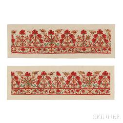 Pair of Greek Island Embroideries