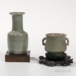 Celadon Vase and Cup