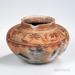 Southwest Painted Pottery Storage Jar