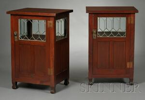 Pair of Roycroft Arts & Crafts Cabinets