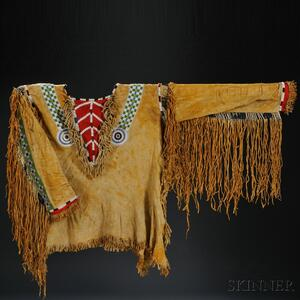 Sold for: $144,000 - Rare Plains Pony, Seed Bead, and Quilled Hide Shirt