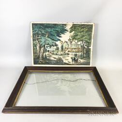 J. Kelly & Sons Summer Scene in the Country   Lithograph