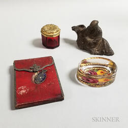Four Small 19th Century Decorative Items.     Estimate $100-150