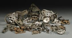 Collection of Fifty-five Assorted Tin Cookie Cutters