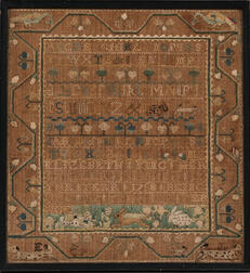 "Needlework Sampler ""Elizabeth King,"""