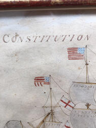 American School, Early 19th Century      Constitution & Guerriere