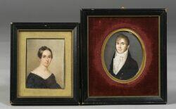 N. Carlsen (Swedish, ac. 1809-1812) and Alvan Clark (American, 1804-1887) Portrait of David Murray Hoffman and His Second Wife Mary Mur