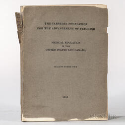 Flexner, Abraham (1866-1959) Medical Education in the United States and Canada, Carnegie Foundation, Bulletin Number Four.