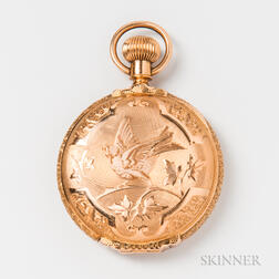 Waltham 14kt Gold Hunter-case Pocket Watch