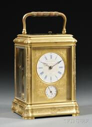 Gilt French Hour-repeating Carriage Clock