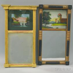 Two Mirrors with Reverse-painted Tablets