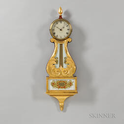 Sawin & Dyer Gilt-front Lyre Clock
