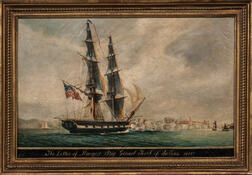 "American School, 19th Century      The Letter of Marque Brig: ""Grand Turk"" of Salem, 1815"