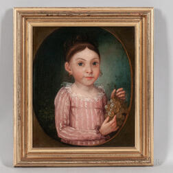 German School, Early 19th Century      Portrait of Margaretia Fiager, 1816