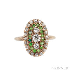 Antique Diamond and Gem-set Ring