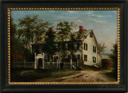 American School, Late 19th Century      Portrait of a White-painted New York State House