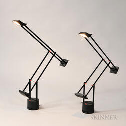 Pair of Aluminum Artemide Tizio 35 Bird Lamps