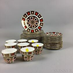 Royal Crown Derby Imari-palette Porcelain Dinner Service for Eight.     Estimate $400-600