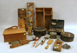 Group of Country Wooden and Tin Kitchen Items