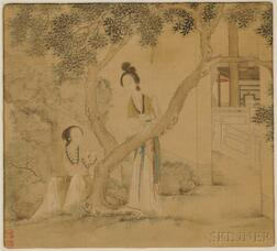 Painting Depicting Two Ladies