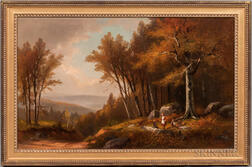 Benjamin Champney (Massachusetts/New Hampshire, 1817-1907)      Autumn in New Hampshire
