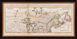 North America, Canada. Thomas Bowen (d. 1790) A Map of the British and French Settlements in North America.