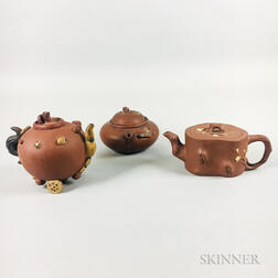 Three Yixing Teapots