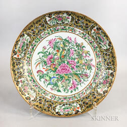 "Rose Medallion ""Thousand Butterflies"" Porcelain Charger"