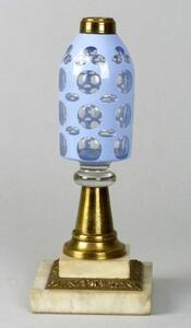 Cut Overlay Glass Peg Lamp