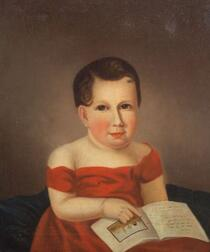 Attributed to Mary Jane Peale (Philadelphia, 1827-1902) Copied from the Portrait of Mrs. Rubens Peale and Son, Eliza Burd Patterson (17