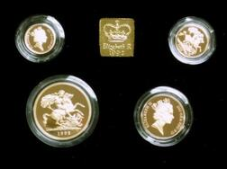1992 United Kingdom Gold Proof Sovereign Four-Coin Collection