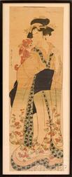 Kikugawa Eizan (1787-1867), Courtesan with Dog