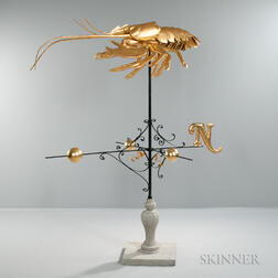 Victor Christ-Janer Lobster Weathervane on Stand