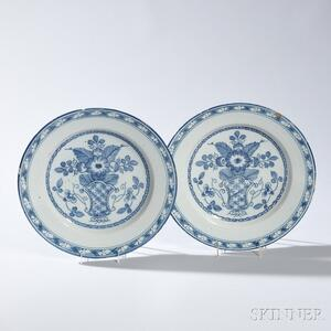 Pair of Tin-glazed Delft Chargers